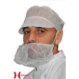 Cache barbe blanc polypropylène