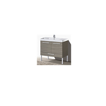 Meuble sous plan Duna/Ecla 80 cm sur pieds 2 portes - 1 tiroir MB Expert