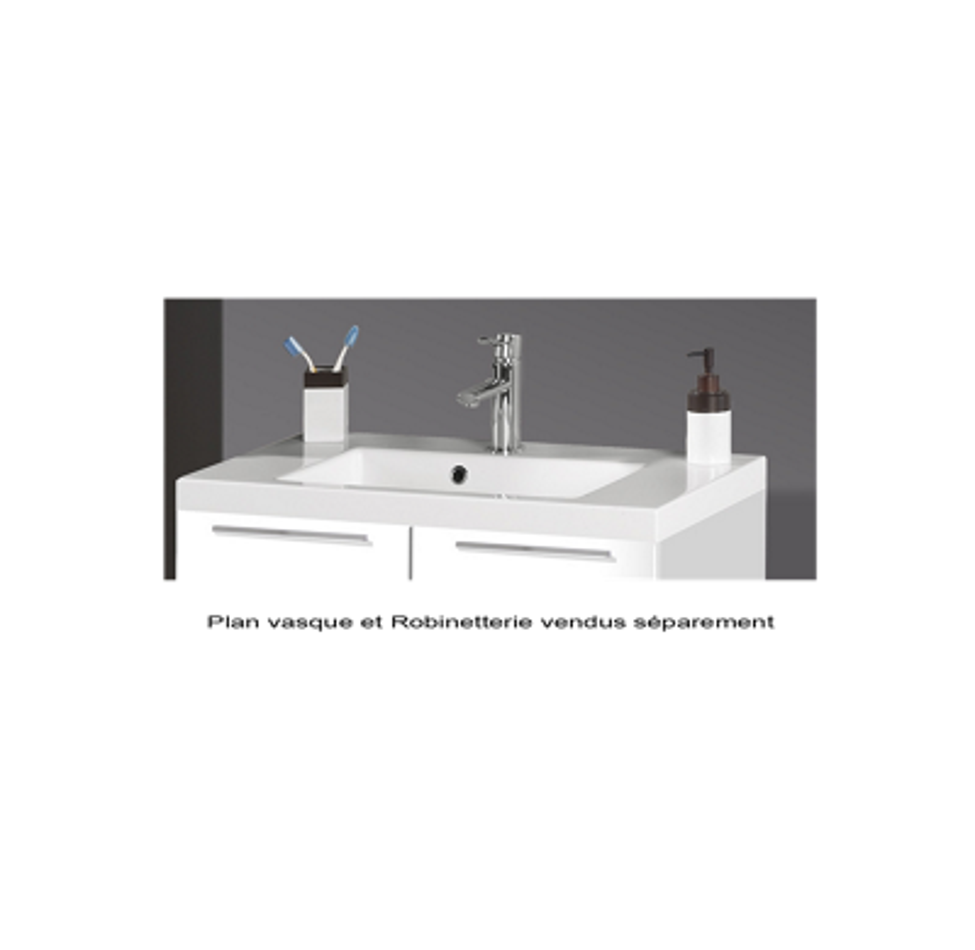 Plan vasque Aïda - Synthèse 1 vasque MB Expert