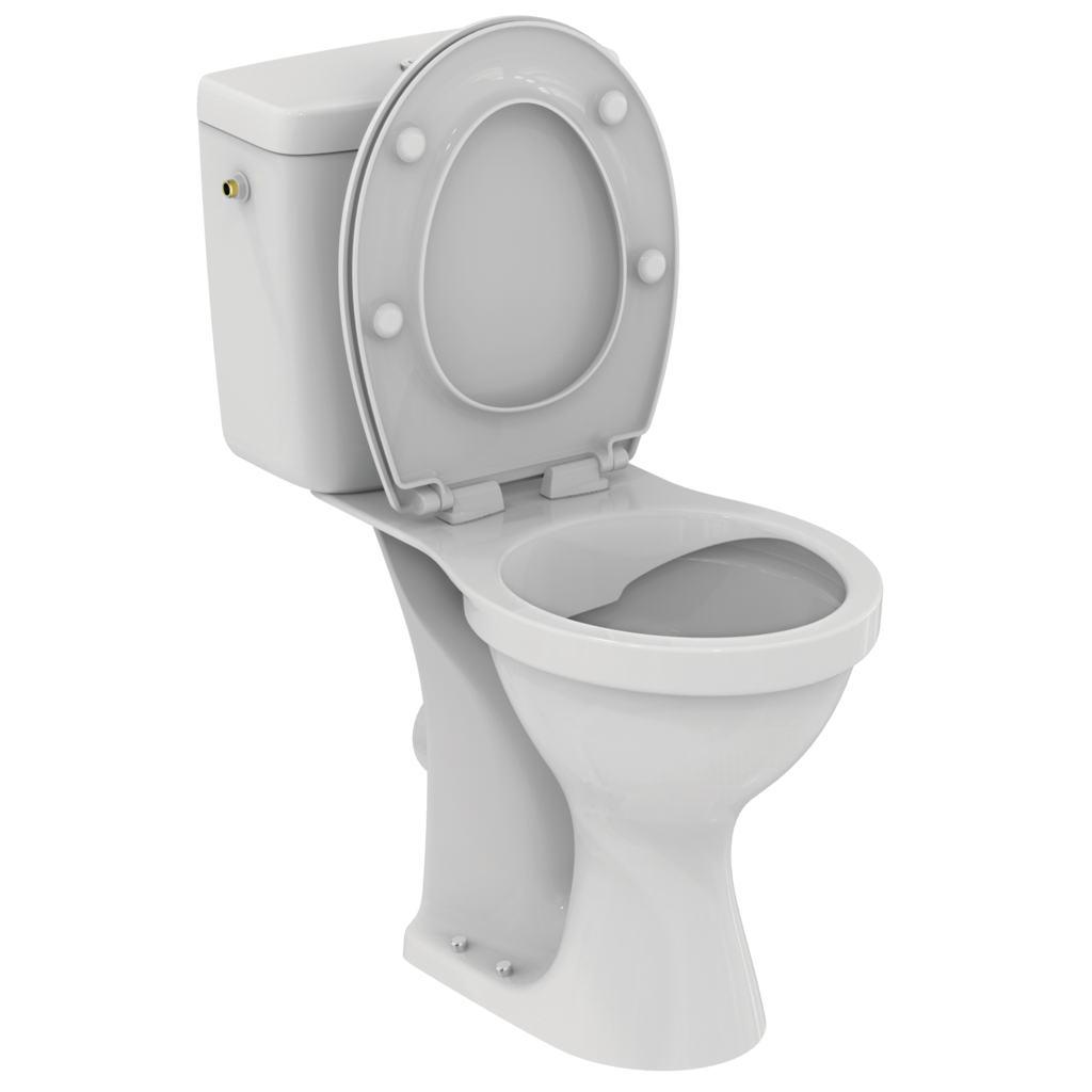 Pack WC complet surélevé Ulysse sans bride - Sortie horizontale Porcher