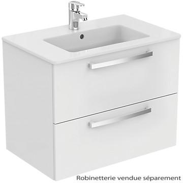 Meuble sous-plan et plan vasque Ulysse suspendu 2 tiroirs - 70 cm Porcher