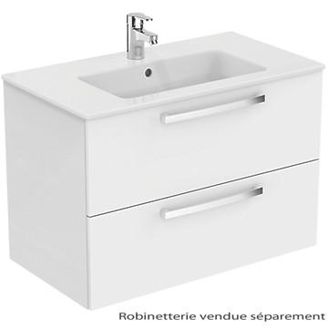 Meuble sous plan et plan vasque ulysse suspendu 2 tiroirs for Meuble ulysse