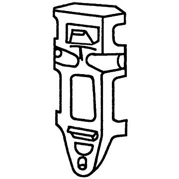 Support pour installation en angle pour urinoir Coquille 2 Jacob Delafon