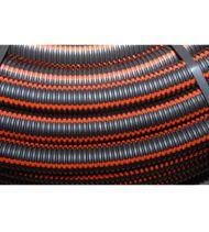 Gaine de protection ERDF noir à bande rouge