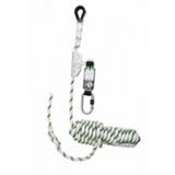 Antichute coulissant sur corde tressée 10 m avec absorbeur d'énergie