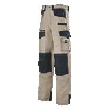 Pantalon de travail beige/noir Spanner Work Attitude
