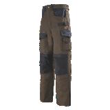 Pantalon de travail marron/noir Spanner Work Attitude