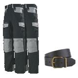 Lot de 2  pantalons de travail Ruler noir/gris + 1 ceinture Yuma