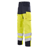 Pantalons de travail haute visibilité jaune fluo/marine Pupil