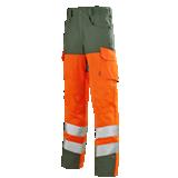 Pantalon orange fluo/ vert foncé Pupil