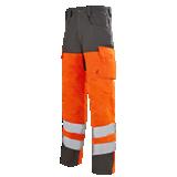 Pantalon orange fluo/gris acier Pupil