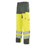 Pantalon de travail Iris 82cm jaune fluo/ vert foncé