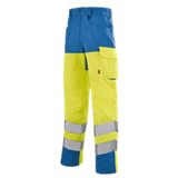 Pantalon de travail Iris 77cm bleu azur/jaune fluo