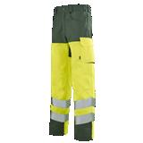 Pantalon de travail Iris 77cm jaune fluo/vert foncé