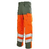 Pantalon de travail Iris 77cm vert us/orange fluo