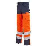 Pantalon de travail Iris 82cm marine/orange fluo