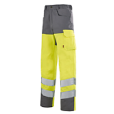 Pantalon de travail Iris 77cm gris acier/jaune fluo
