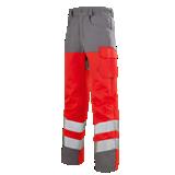 Pantalon de travail Iris 77cm gris acier/rouge