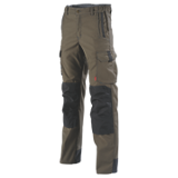 Pantalon de travail stretch Hakan marron/ardoise