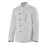 Veste de cuisine blanc/bleu marine mixte Alain
