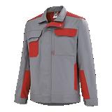 Blouson de travail Grenat gris acier/rouge