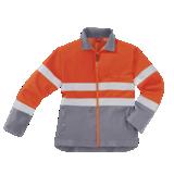 Blouson de travail haute visibilité orange/gris Rubble