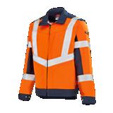 Blouson de travail haute visibilité Lutea orange fluo/marine