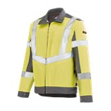 Blouson de travail haute visibilité Lutea jaune fluo/gris acier