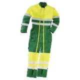Combinaison haute visibilité double zip jaune fluo/verte Scraper