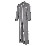 Combinaison de travail double zip Brave gris acier