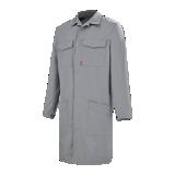 Blouse de travail coton/polyester grise acier Ambre