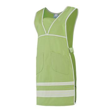 Chasuble de travail femme vert pomme blanc Mélie Lafont