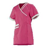 Tunique de travail courte rose fuchsia/blanc femme Lilée