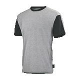 Tee-shirt de travail Flange Gris chiné/noir