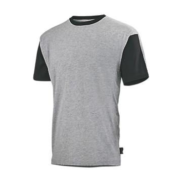 Tee-shirt de travail Flange Gris chiné/noir Lafont