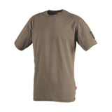 Tee-shirt manches courtes Tadi marron havane