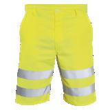 Bermuda de travail haute visibilité Digger jaune fluo