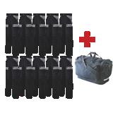 Lot de 10 pantalons de travail Ruler noir/gris + 1 sac de paquetage