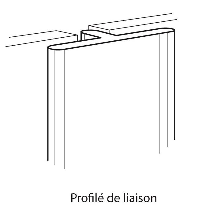 Profilé de liaison pour panneaux Decofast Lazer