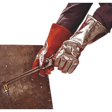 Gants de soudeurs en cuir dos aluminisé RHT 40 cm Lebon protection