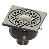 Siphon inox sortie verticale classique 150 avec vis d'inviolabilité