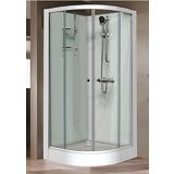 Cabine Iziglass 1/4 rond en angle porte coulissante verre transparent