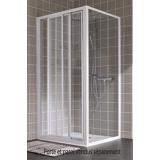 Porte Atout 2 coulissante accès de face profil blanc verre granité