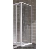 Paroi Atout 2 fixe profil blanc verre granité