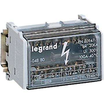 Répartiteur modulaire monobloc TETRAPOLAIRE Legrand