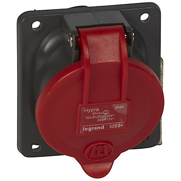 Socle tableau Hypra rouge IP44 Legrand