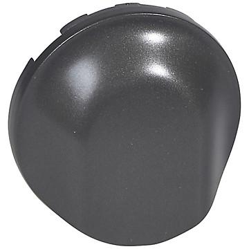 Céliane - Enjoliveur graphite - Sortie de câble / Obturateur Legrand
