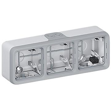 Plexo boîtier pour montage en saillie de l'appareillage GRIS / BLANC Legrand