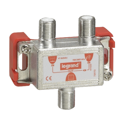 Coupleur hertzien-satellite - 47-862 MHz/950-2400 MHz Legrand