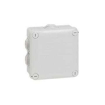 Boîte de dérivation carrée - 105x105x55 mm - fermeture par 1/4 de tour - gris LEGRAND
